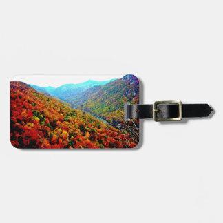 Through The Smokey Mountain Range Luggage Tag