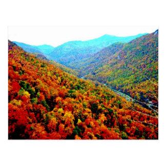 Through The Smokey Mountain Range Post Card