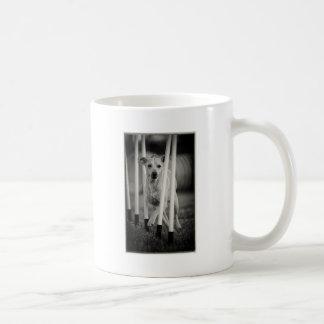 Through the weave poles coffee mug