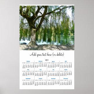 Through the Willow Branches 2011 wall calendar Poster