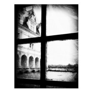 'Through the Window' Black and White Post Card