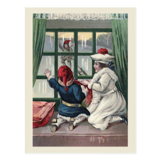 """Through the Window"" Christmas Postcard"