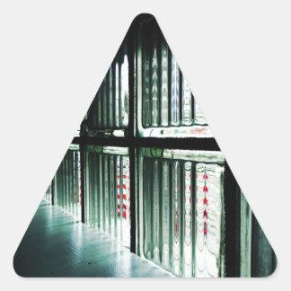 Through The Window Triangle Sticker