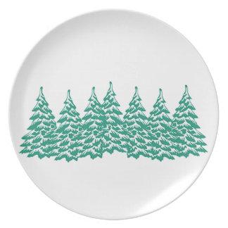 Through the Woods Melamine Plate