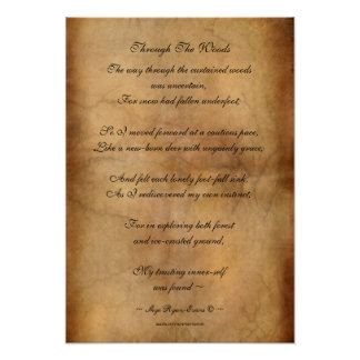 """""""Through the Woods"""" Poetry Poster XII"""