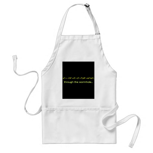 Through The Wormhole Products Black BG Aprons
