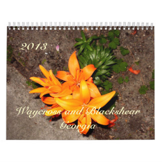 Through the Year in Flowers Wall Calendars