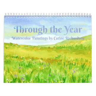 Through The Year Watercolor Paintings Calendar