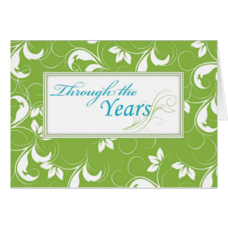 Through the Years, Downsizing Move Stationery Note Card