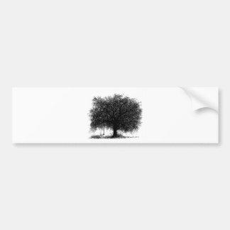 Through the Years Ink Illustration Bumper Sticker