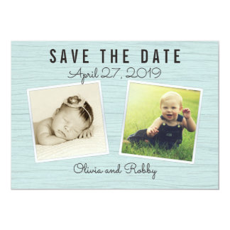 Through The Years Photo Save the Date Card