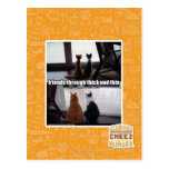 Through thick and thin postcard