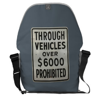 through vehicles prohibited courier bag