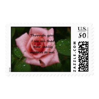 """""""Through you, I see""""  Aromatherapy Hybrid Tea Rose Postage"""
