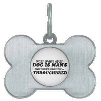 Throughbred best friend pet name tags