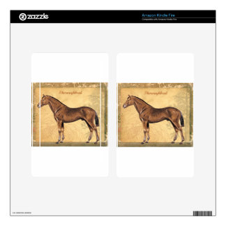 Throughbred Brown Horse Kindle Fire Skins