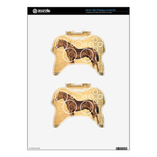 Throughbred Brown Horse Xbox 360 Controller Decal