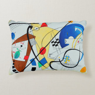 Throughgoing Line by Wassily Kandinsky Accent Pillow