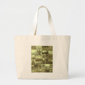 Throw Back City Large Tote Bag