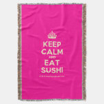 [Crown] keep calm and eat sushi  Throw Blanket