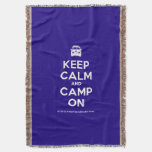 [Campervan] keep calm and camp on  Throw Blanket