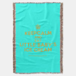 [Cupcake] keepcalm and eat little baby's ice cream  Throw Blanket