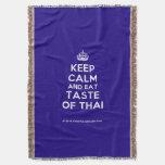[Crown] keep calm and eat taste of thai  Throw Blanket