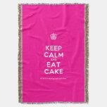[Cupcake] keep calm and eat cake  Throw Blanket