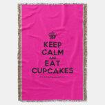 [Cupcake] keep calm and eat cupcakes  Throw Blanket