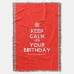 [Cupcake] keep calm its your birthday  Throw Blanket