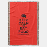 [Cutlery and plate] keep calm and eat food  Throw Blanket