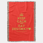 [Crown] keep calm and eat destinay♥  Throw Blanket