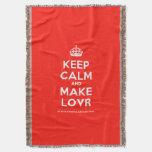 [Crown] keep calm and make lovr  Throw Blanket