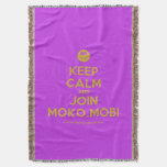 [Smile] keep calm and join moko.mobi  Throw Blanket