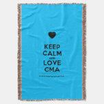[Love heart] keep calm and love cma  Throw Blanket