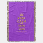 [Crown] keep calm and pun pun  Throw Blanket