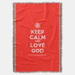 [Cupcake] keep calm and love god  Throw Blanket