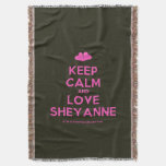 [Two hearts] keep calm and love sheyanne  Throw Blanket