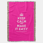 [Crown] keep calm and make it easy  Throw Blanket