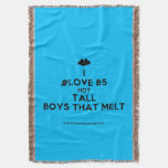 [Two hearts] i #love b5 hot tall boys that melt  Throw Blanket