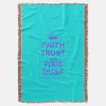 [Knitting crown] faith trust and pixie dust  Throw Blanket