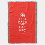 [Cutlery and plate] keep calm and eat kfc  Throw Blanket