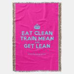 [Crown] eat clean train mean and get lean  Throw Blanket