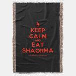 [Campfire] keep calm and eat shaorma  Throw Blanket