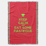 [Chef hat] keep calm and eat some pasteque  Throw Blanket