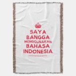 [Crown] saya bangga menggunakan bahasa indonesia  Throw Blanket