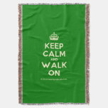 [Crown] keep calm and walk on  Throw Blanket