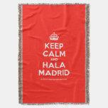 [Crown] keep calm and hala madrid  Throw Blanket