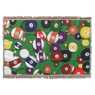 Throw Blanket - Billiards