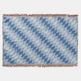 Throw Blanket - Diagonal Argyle Pattern